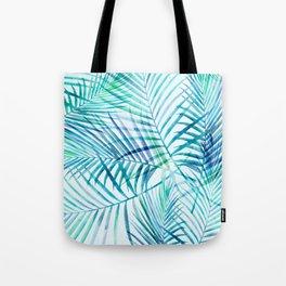 Tropical Palm Pattern Tote Bag