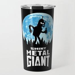 Shiny Metal Giant Travel Mug