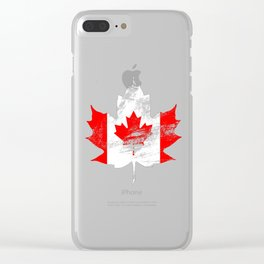 Canada Maple Leaf Clear iPhone Case