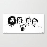 grateful dead Canvas Prints featuring They're A Band Beyond description - Grateful Dead by St.Knick