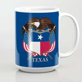 Texas flag and eagle crest concept Coffee Mug