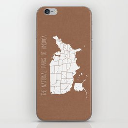 The Hand-Painted National Parks of America iPhone Skin
