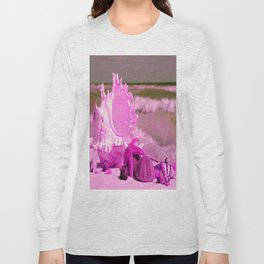 Shells and starfishes in pink Long Sleeve T-shirt