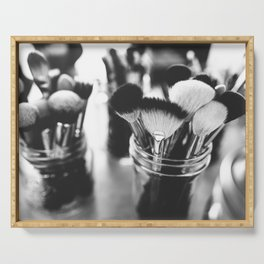 Makeup Brushes Serving Tray
