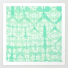 Tie Dye 2 Mint Art Print