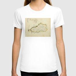 Vintage Map of Kentucky (1823) T-shirt