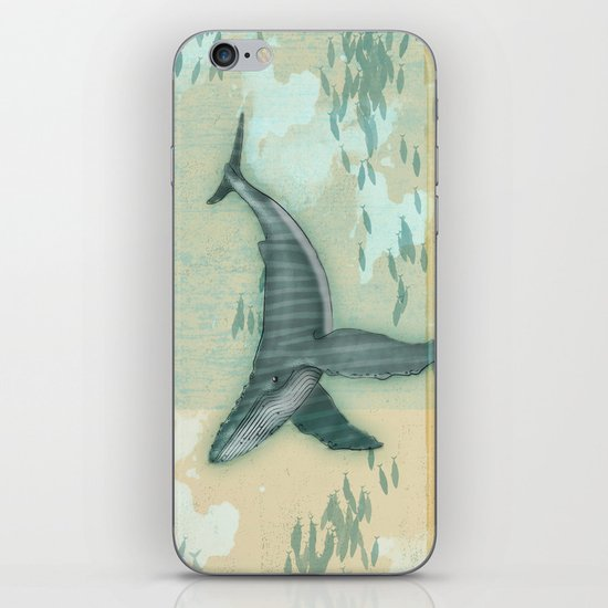 rhythm of the whale iPhone & iPod Skin