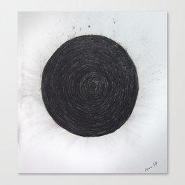 Charcoal circle Canvas Print