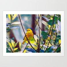Sweet Yellow Warbler Art Print