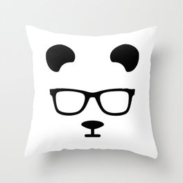 Nerd Panda Throw Pillow