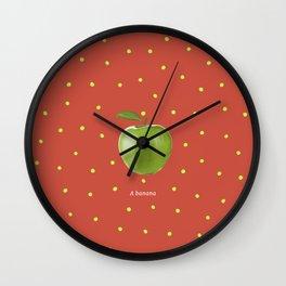 Banana apple fruit modern art Wall Clock