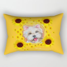 Westie dog portrait & Quote for friend Rectangular Pillow