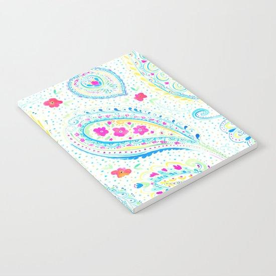 Watercolor Paisley Aqua Notebook