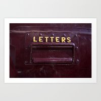 letters Art Prints featuring Letters by lenomadecom