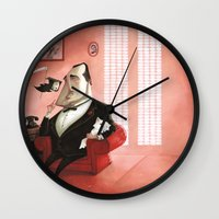 the godfather Wall Clocks featuring The Godfather Tribute by Daniela Volpari