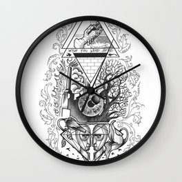 Tattoo music tribute to PinkFloyd Wall Clock