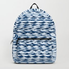 Glitch Waves - Classic Blue Backpack