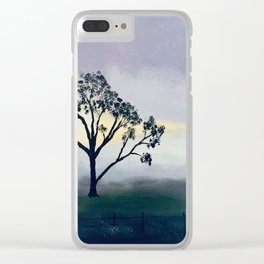 Winter Morning Mist Clear iPhone Case