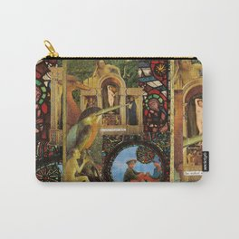 She walked with great dignity, collage.  Carry-All Pouch