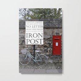 Post Box #3 Metal Print