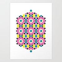 Arabesque CMYK Art Print