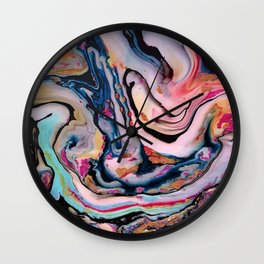 Colorful Fantasy Abstraction Wall Clock