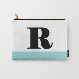 Monogram Letter R-Pantone-Limpet Shell Carry-All Pouch