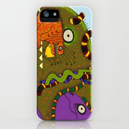 Iguanas and Snakes iPhone Case