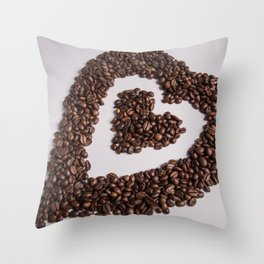 coffee heart #society6 #decor #buyart Throw Pillow