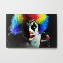 Creepy Clown Metal Print