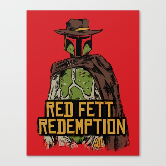 Red Fett Redemption Canvas Print