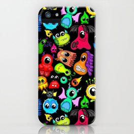 Little Monsters- Black iPhone Case