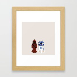 JAWA & R2D2 Framed Art Print