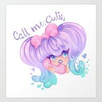 Call Me, Cutie Art Print