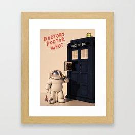 Doctor? Doctor Who? Framed Art Print