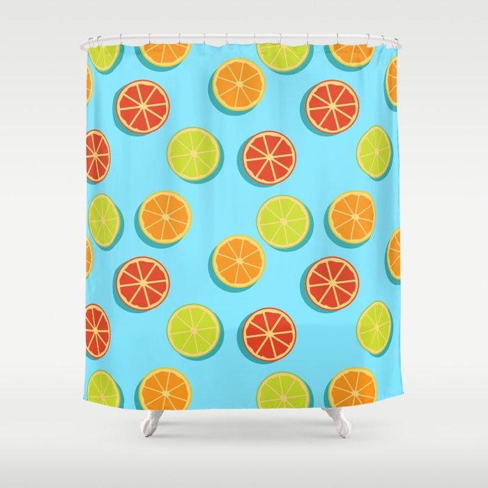 Summer insta fruits Shower Curtain