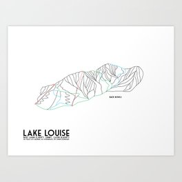 Lake Louise, Canada - Back - Minimalist Winter Trail Art Art Print