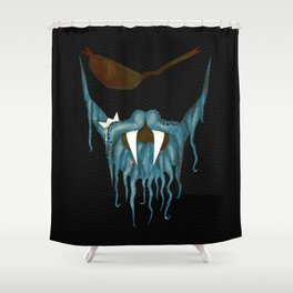 The tentacle beard Shower Curtain