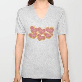 Independent donut hearts Unisex V-Neck