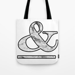 Dramatic white marble ampersand Tote Bag