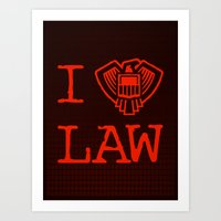 law Art Prints featuring Law Lover by Fanboy30