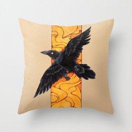 Crow 1 Throw Pillow