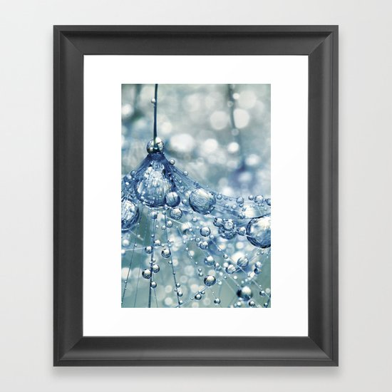 Sparkling Dandy in Blue Framed Art Print
