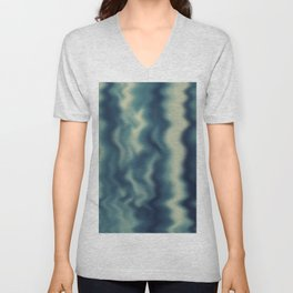 Blue blured background Unisex V-Neck