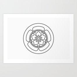 Oda Clan · Black Mon · Outlined Art Print