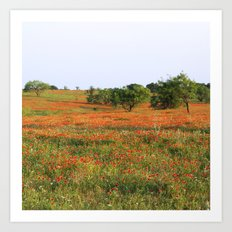 Field of Flowers! Art Print