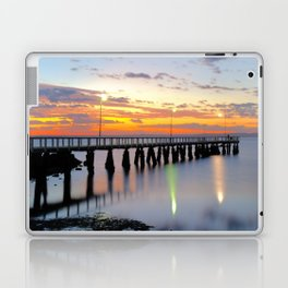 Wellington Point Jetty Sunrise Laptop & iPad Skin