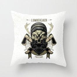 Fortitude (Lumberjack) Throw Pillow