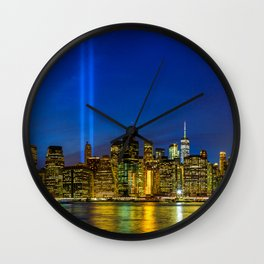 Tribute in Light. New York City Wall Clock