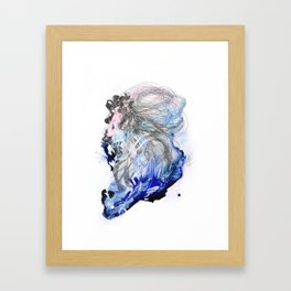 A dissonance in my memory I carry around Framed Art Print
